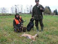 Borderka Frixí Ostrý lovec na naháňce se svými dalšími psími kamarády.