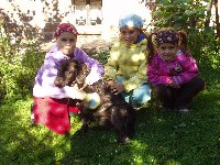 Chlupínka (Edyna) a tři princezny!