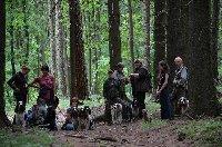 Naše parta v lese první den.