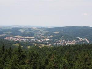 Pohled z Tanečnice na Německo.
