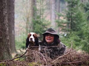 Naiky a já v lese.