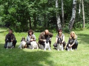Borča z Větrné paseky a její potomci - Nero, Giulian, Niké, Hubert a Hubertova dcera Shakira