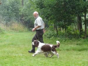 Nejkrásnější pes srazu - Ebony z Větrné paseky se svým majitelem a vůdcem.
