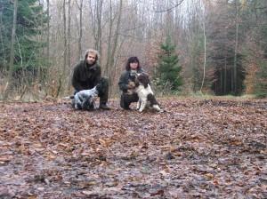 Výcvikový den 22.11. Bonie, Wanda a Reisha.