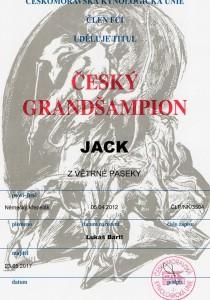 Německý křepelák Jack z Větrné paseky  - Český Grand Šampion a Šampion ČMKU!