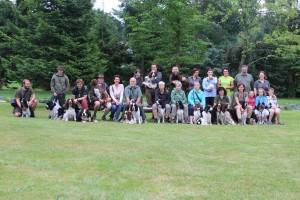 Foto z druhého dne, první den nás bylo ještě víc...o devět lidí a pět psů...