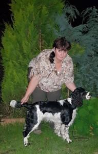 Polly se štastnou majitelkou - večer doma foto po výstavě