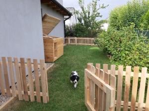 Xanta si prohlíží své nové bydlení