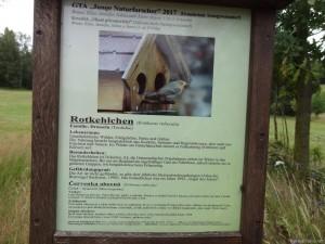 Celá cesta na sever je i zároveň naučná stezka plná cedulek s žijícím ptáčkami po cestě.