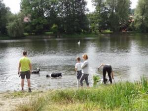 Poslední zastávka před obědem - zámecký rybník v Lipové