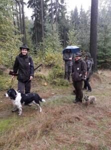 Hubert s Káťou, atmosféra i v dešti byla skvělá.