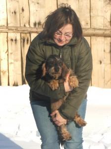 Lenka Střelková (sestra) přebírá po mamince CHS u Hříbečku. V náručí má Bettynku u Hříbečku.