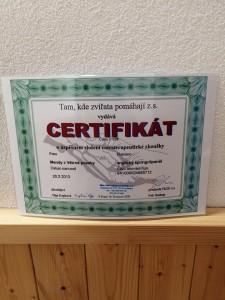 Mendy certifikát.