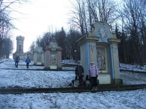 Křížová cesta v Jiřetíně pod Jedlovou.