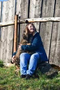 Larinka - máma Bettyny, opět setkání s chovatelkou - CHS u Hříbečku.